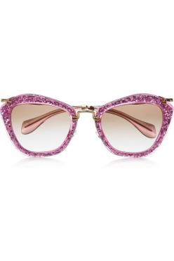 Miu Miu  cat eye glittered acetate and metal sunglasses: http://rstyle.me/irq3f5n2w6: Miumiu, Fashion, Cat Eyes, Eye Glittered, Glittered Acetate, Miu Miu, Cat Eye Sunglasses